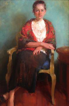 Olga Red Scarf